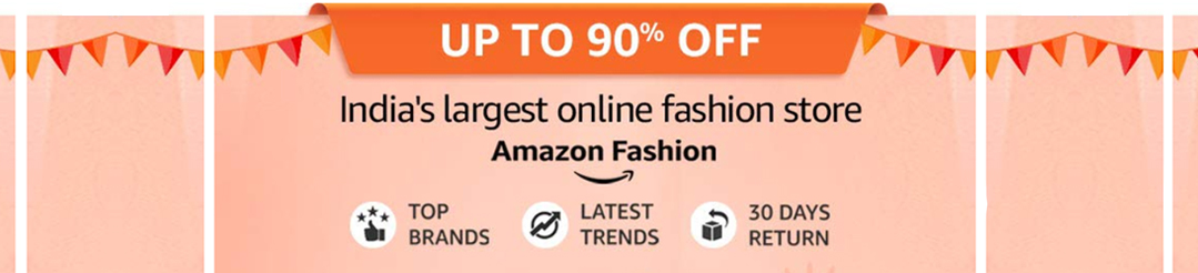 Amazon Flash Sale on Fashion
